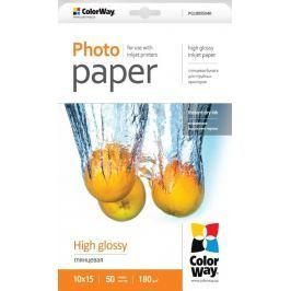 COLORWAY fotopapír/ high glossy 180g/m2, 10x15/ 50 kusů