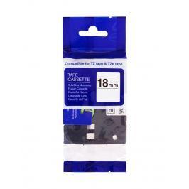 PRINTLINE kompatibilní páska s Brother TZE-241, TZ-241, 18mm, černý tisk/bílý po