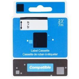 PRINTLINE kompatibilní páska s DYMO 43613, S0720780, 6mm, 7m, černý tisk/bílý po