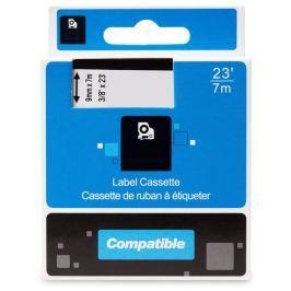 PRINTLINE kompatibilní páska s DYMO 40914, S0720690, 9mm, 7m, modrý tisk/bílý po