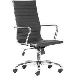 NO NAME Kancelářská židle PRESTON, černá, PU, chromovaná základna