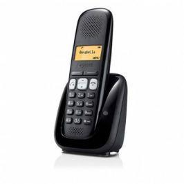 Gigaset SIEMENS  A250 bezdrátový telefon, podsvícený display, černý