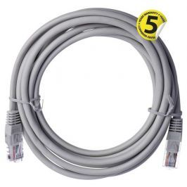 EMOS Patch kabel UTP, CAT 5e, AWG26, PVC, šedý, 3m
