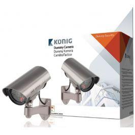 KÖNIG atrapa bezpečnostní kamery s infračervenou LED/ venkovní