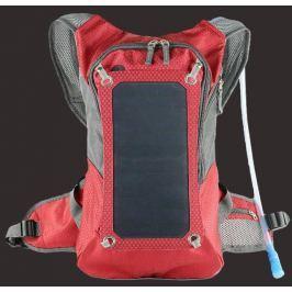 Sunen PowerNeed  batoh se solárním panelem 7W, červeno-šedý