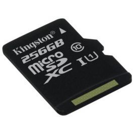 Kingston 256GB microSDXC CANVAS Class 10 UHS-I 80MB/s Read Card + bez adaptéru
