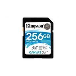 Kingston paměťová karta 256GB Canvas Go! SDXC UHS-I U3 (čtení/zápis: 90/45MB/s)