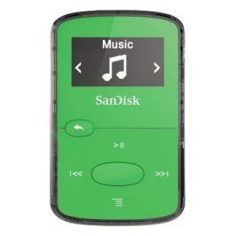 Sandisk Clip Jam 8 GB, FM rádio, MP3, WMA, microSDHC, zelená