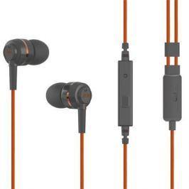 SoundMAGIC Sluchátka do uší ES18S, šedo-oranžová, s mikrofonem,