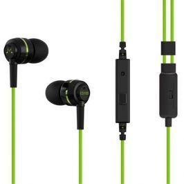 SoundMAGIC Sluchátka do uší ES18S, černo-zelená, s mikrofonem,