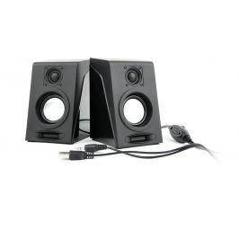 Gembird Multimediální Stereo Reproduktory 2.0 ''Breeze'', 6W RMS, černá