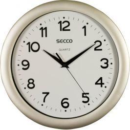 SECCO Nástěnné hodiny Sweep Second, rám - imitace dřeva, 30 cm,