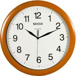 SECCO Nástěnné hodiny Sweep Second,rám - imitace dřeva, 32 cm,