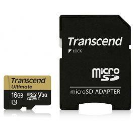 Transcend 16GB microSDHC UHS-I U3M Ultimate (V30) MLC paměťová karta (s adaptére