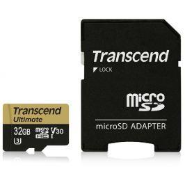 Transcend 32GB microSDHC UHS-I U3M Ultimate (V30) MLC paměťová karta (s adaptére