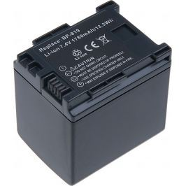 T6 POWER Baterie  Canon BP-819, BP-808, BP-809, 1720mAh, černá
