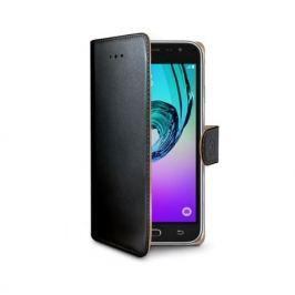 CELLY Pouzdro na mobil flipové  WALLY pro Samsung Galaxy J3 (2016) - černé