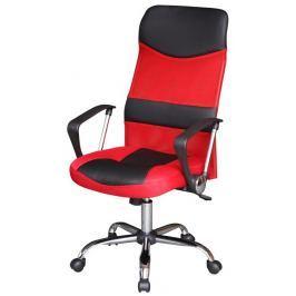 Tempo Kondela Kancelárske kreslo, čierno/červené, TC3-973M Židle