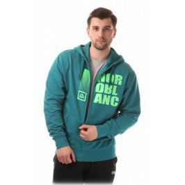 Nordblanc FURROW pánská bavlněná mikina::M; Modrá/zelená Pánské svetry a roláky