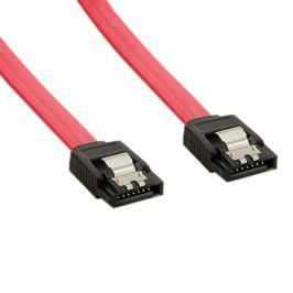 4World HDD kabel | SATA 3 | 30cm | petlice | červený Interní kabely do PC