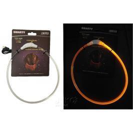 Svítící LED obojek-transparentní-S-35cm-ŽLUTÁ-13389 obojky