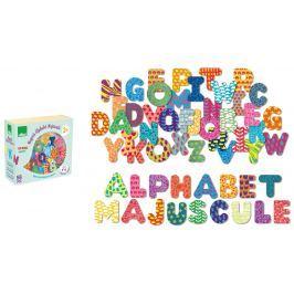 Vilac - Dřevěné magnetky tiskací abeceda 56ks Magnetky pro děti