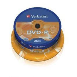Verbatim DVD-R 4,7GB, 16x, AZO, , 25-cake Záznamová média