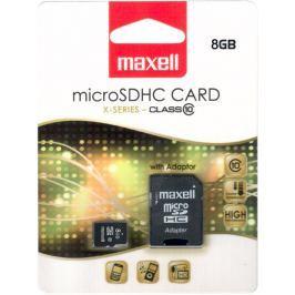 MAXELL MicroSDHC 8GB CL10 + adpt 854716 Paměťové karty