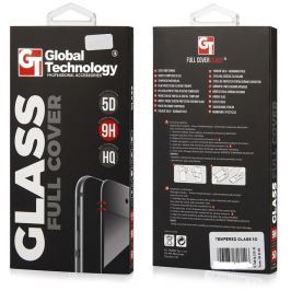 Global Technology TEMPERED GLASS FULL FRONT 5D iPhone 7/8 black GT Pouzdra, kryty a fólie
