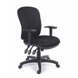 MAYAH Manažerská židle, textilní, černá základna, , Comfort, černá Židle