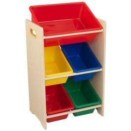 KidKraft Úložná police na hračky s 5 boxy vybavení pokojíčku