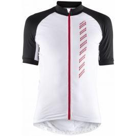 Craft Pánský celorozepínací cyklodres  Velo 2.0::M; Bílá Cyklistické dresy