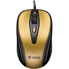 Yenkee YMS 1025GD Myš USB Quito zlatá myši
