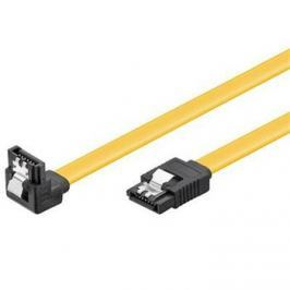 OEM PremiumCord, 0,3m SATA 3.0 datový kabel 1.5GBs / 3GBs / 6GBs, kov.západka, 90°