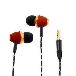 AWEI Sluchátka do uší ES-Q5, červená, dřevo,