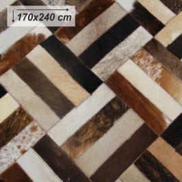 Tempo Kondela Luxusní koberec, kůže, typ patchworku, 170x200 cm, KOBEREC KOŽA typ2