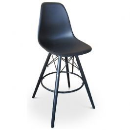 Tempo Kondela Barová židle, černá, CARBRY