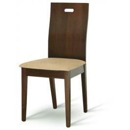 Tempo Kondela Dřevěná jídelna stolička, buk merlot / zlatobéžová, ABRIL