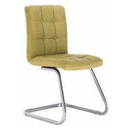 Tempo Kondela Designová stolička, zelená látka, LAVINIA