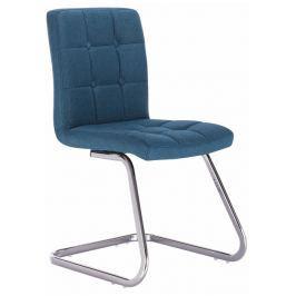 Tempo Kondela Designová stolička, tyrkysová látka, LAVINIA