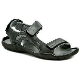 Koma 66 černé pánské nadměrné sandály, 46