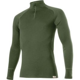 Lasting Pánské zesílené vlněné triko  Wezir, L, Tmavě zelená