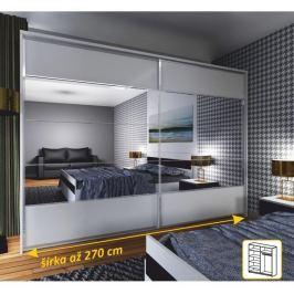 Tempo Kondela Zrcadlová skříň 2 - dveřová, bílá / zrcadlo, NARINA