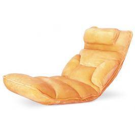 Tempo Kondela Relaxační křeslo, látka oranžová, LOTA