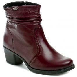 Axel AX4185 bordo dámské zimní kotníčkové boty šíře H, 41
