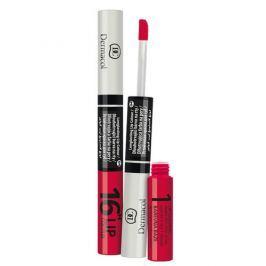 Dermacol Dlouhotrvající barva na rty a lesk 2v1 16h Lip Colour č.4 Vášnivá červená
