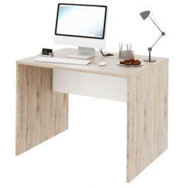 Tempo Kondela PC stůl, san remo / bílá, Rioma TYP 12