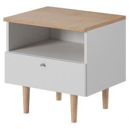 Tempo Kondela Noční stolek, bílá / buk pískový, Laveli LS50