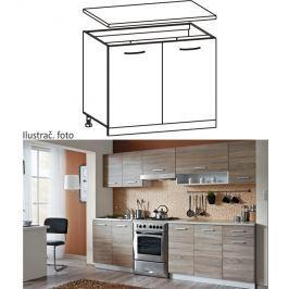 Tempo Kondela Skříňka do kuchyně, dolní, dub sonoma/bílá, CYRA NEW D 80