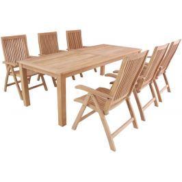 Garland - nábytek Garland Flores 6+ sestava nábytku z teaku (6x poloh. křeslo Aston, 1x stůl Oceana)